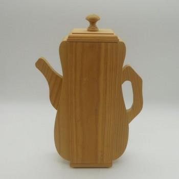 ref.070419 - Caixa para chá com 4 divisórias - Cafeteira