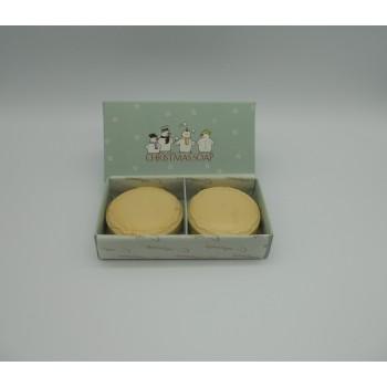 ref.048013-Caixa sabonetes 2x80gr Christmas Soap