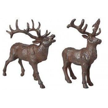 code DCT-TT190 - set of 2 cast iron deers