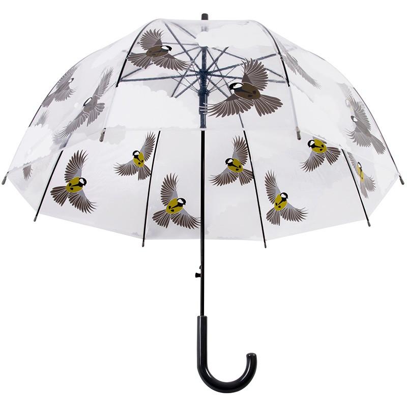ref.DCT-TP274 -Chapéu de chuva transparente - Pássaros em voo