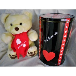 "Code 045000-BJ-1 - Valentine's Teddy Bear- beje - adoro-te /""I adore you"""
