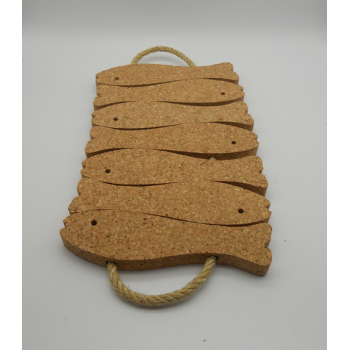 code VK-1228-7 - Trivet with rope 7 fishes - Natural
