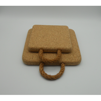 code VK-1211/12- 2 pc square cork trivet with rope set