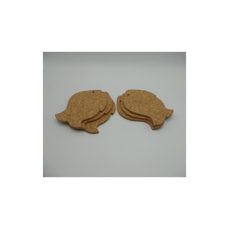 ref.VK-1206FI-Conjunto de 6 bases para copos - peixe