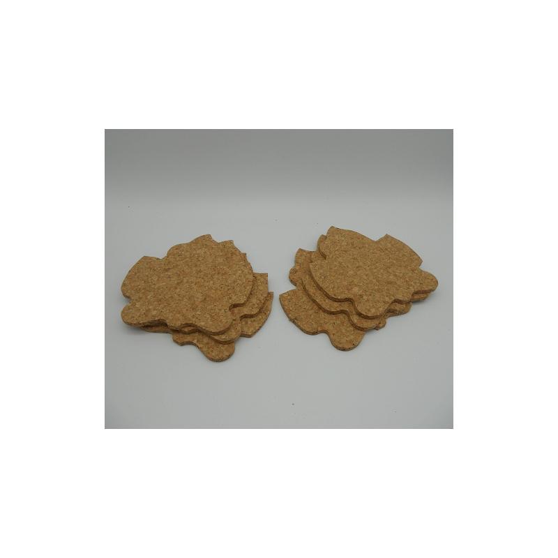 ref.VK-1206GR- Conjunto de 6 bases para copos - parra