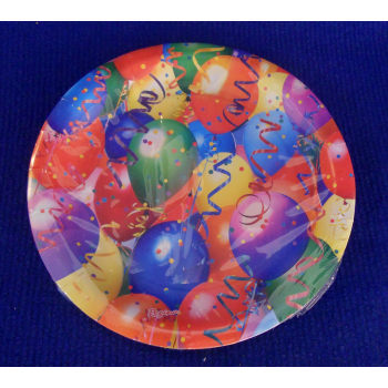 code 073410- Paper plate Balloons- set of 8