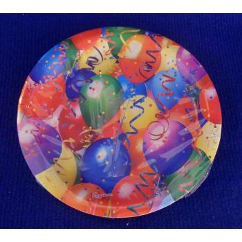 ref.073410-  Prato de papel Balões - conjunto de 8