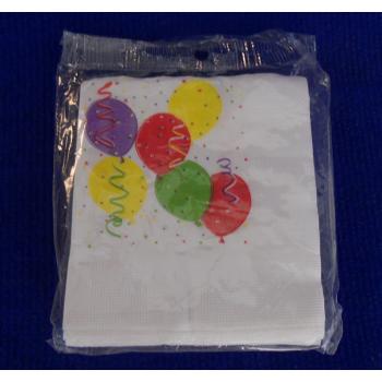 ref.073412- Guardanapo de papel Balões - conjunto de 16