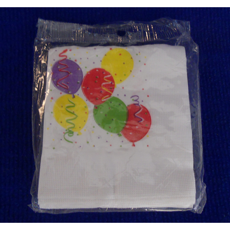 code 073402- Paper napkin Balloons  - set of 16