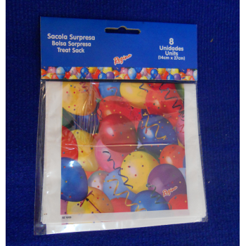 code 073416- Surprise bag Balloons - set of 8