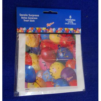code 073416- Surprise bag Balloons - set of 8
