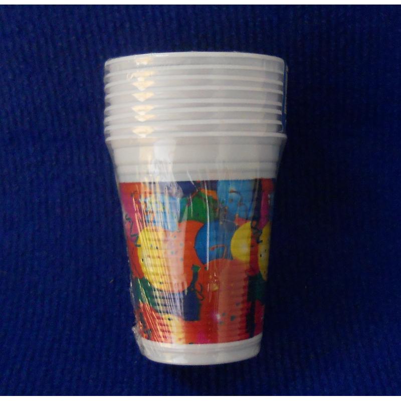 code 073411- Paper tumbler Balloons  - set of 8