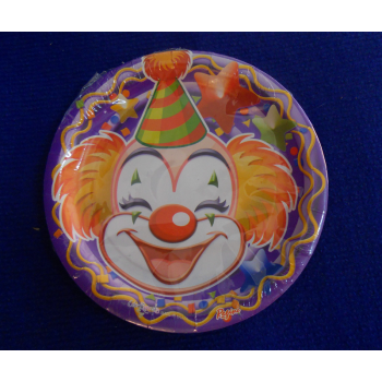 code 073420-  Paper plate Clowns- set of 10